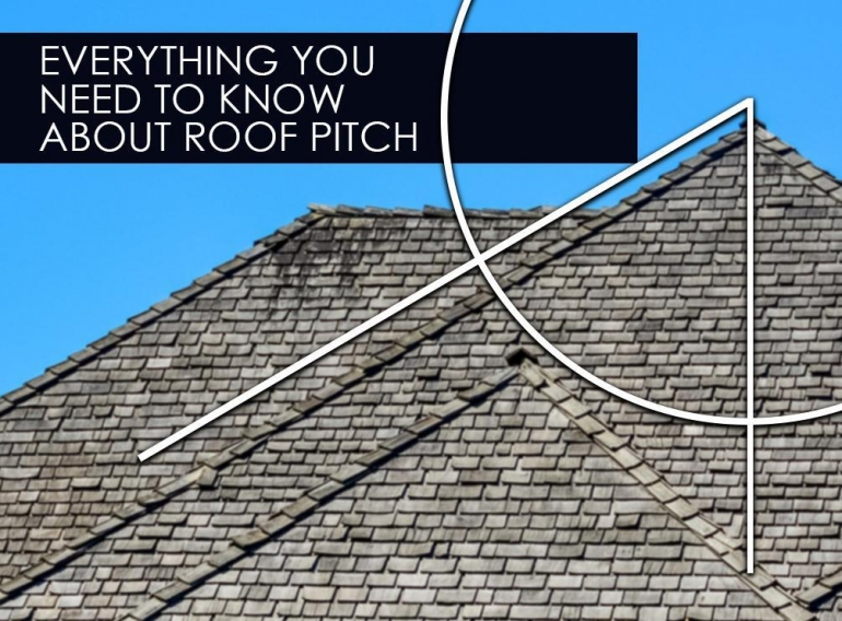 What is roof pitch and how does it impact the roofing process?