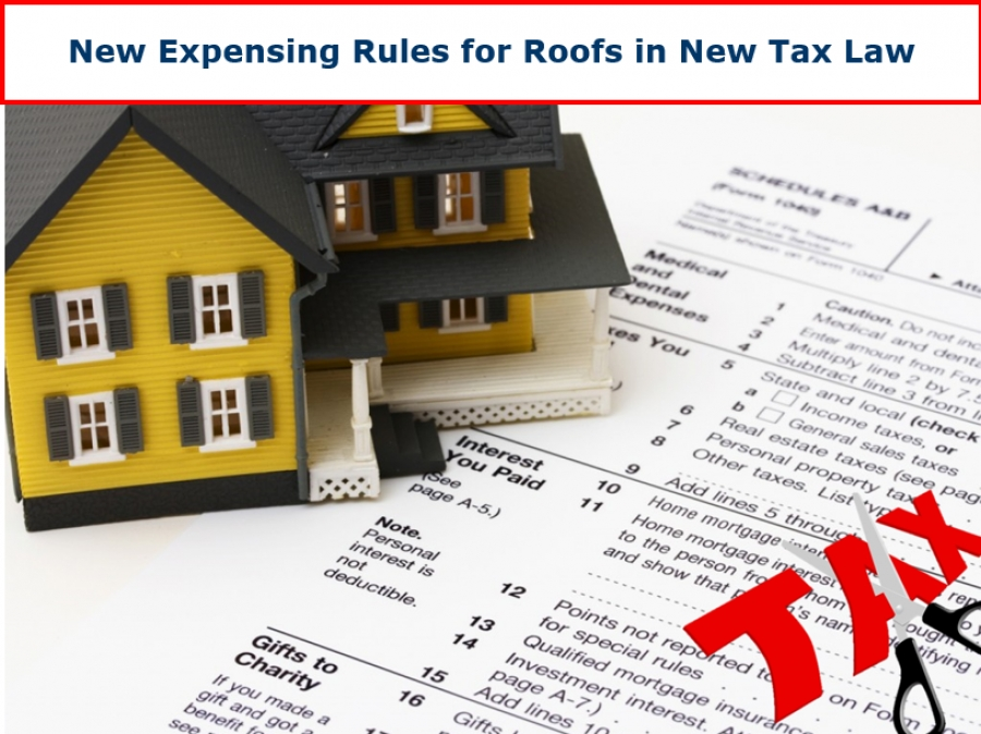 New Expensing Rules for Roofs in 2018